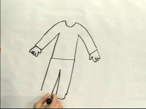 480x360 Easy Cartoon Drawing How To Draw Men's Clothes In Cartoons