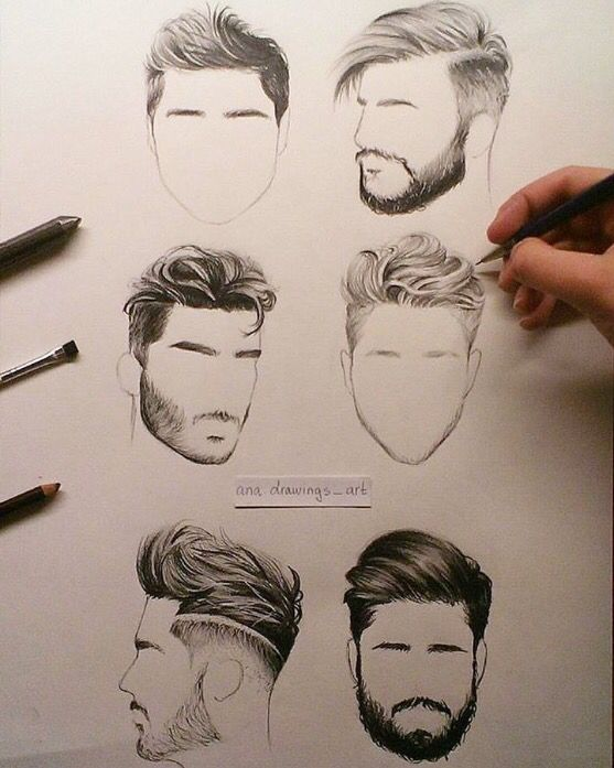 557x697 Hair Styles For Men Pencil Drawings Hair Style