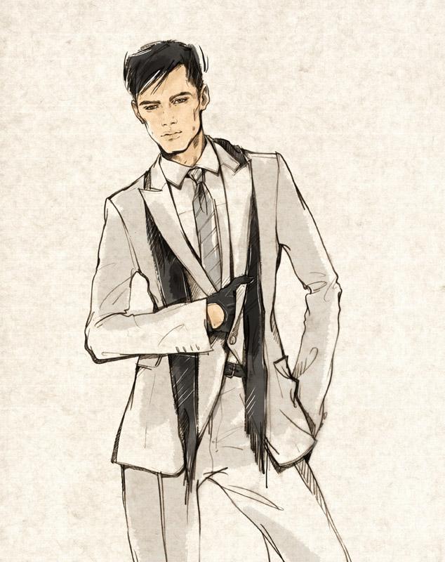 634x800 Men's Fashion Illustration By Alena Lavdovskaya F A S H I O N