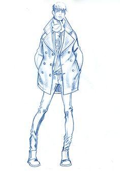 236x337 Men's Fashion Illustration By Paul Keng B Amp W F A S H I O N
