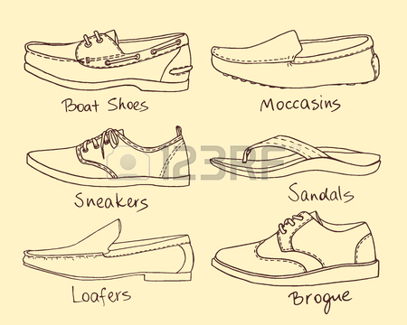 450x360 268 Mens Shoes Vector Stock Vector Illustration And Royalty Free