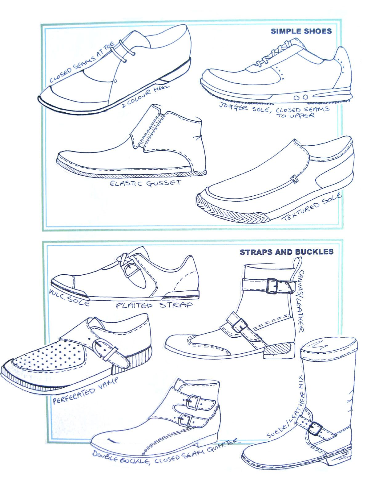 1192x1552 Chart Of Simple Shoes, And Shoes With Straps And Buckles