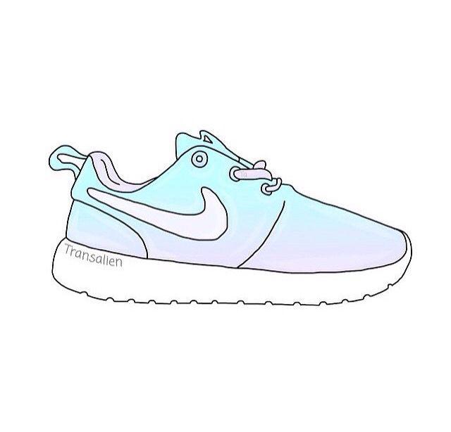640x614 Nike Roshe Run Drawing