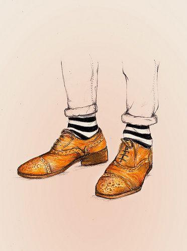 372x500 Tim Burton Style He Always Wears Striped Socks Because It Makes