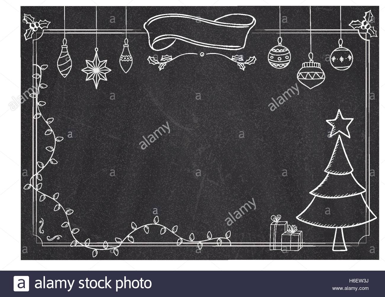 1300x1002 Cafe Menu Classic Blackboard Background With Christmas Drawing