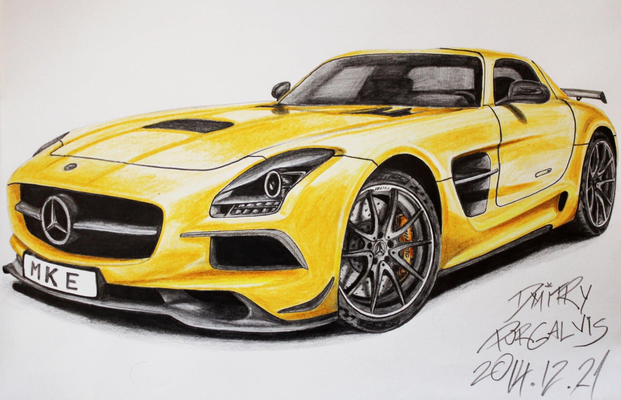 2048x1320 2014 Mercedes Benz Sls Amg Black Series Drawing