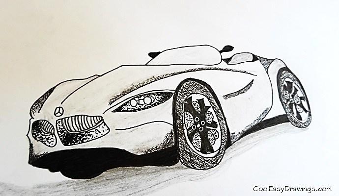 690x400 Benz Drawing (Cartoon Style)