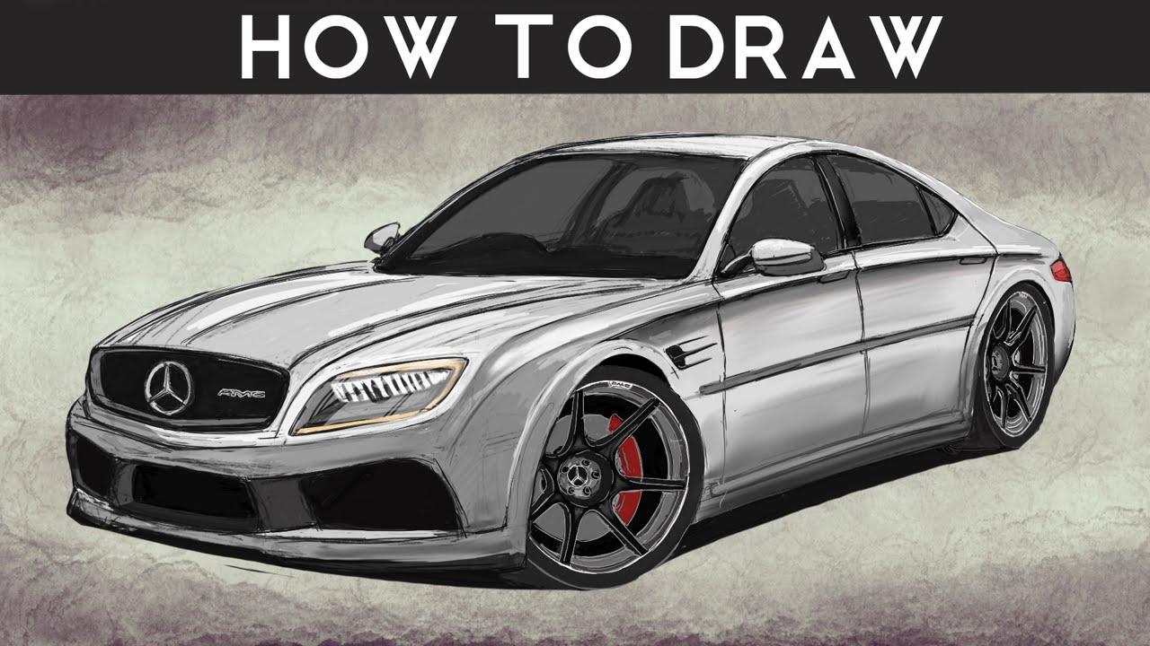 1280x720 How To Draw A Mercedes Benz E Class Concept