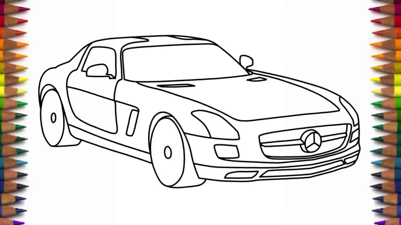 1280x720 How To Draw Mercedes Benz Sls Amg Step By Step
