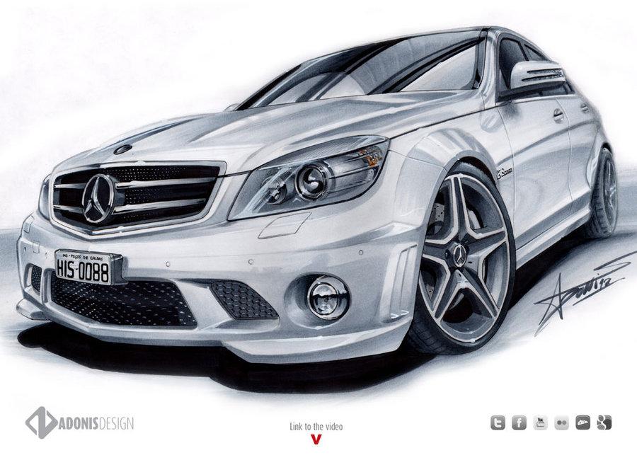 900x650 Mercedes C63 Amg By Adonis Alcici By