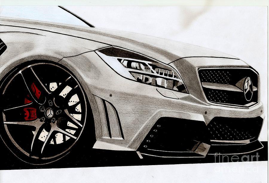 900x614 12' Mercedes C65 Amg Drawing By Kaan Ipek