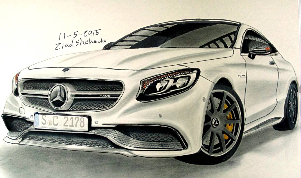 1164x688 Mercedes Benz S63 Amg Coupe 2015 Drawing By Me