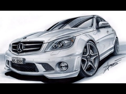 480x360 Mercedes C63 Amg Drawing By Adonis Alcici