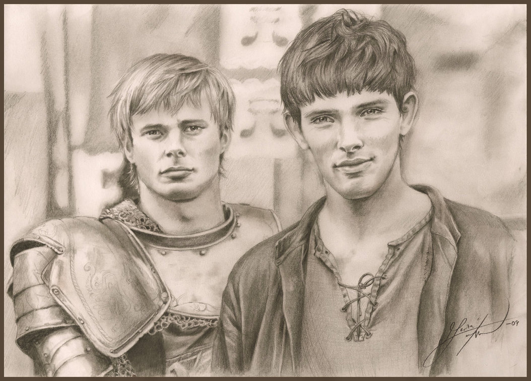 1054x757 Arthur And Merlin By Tatharielcreations