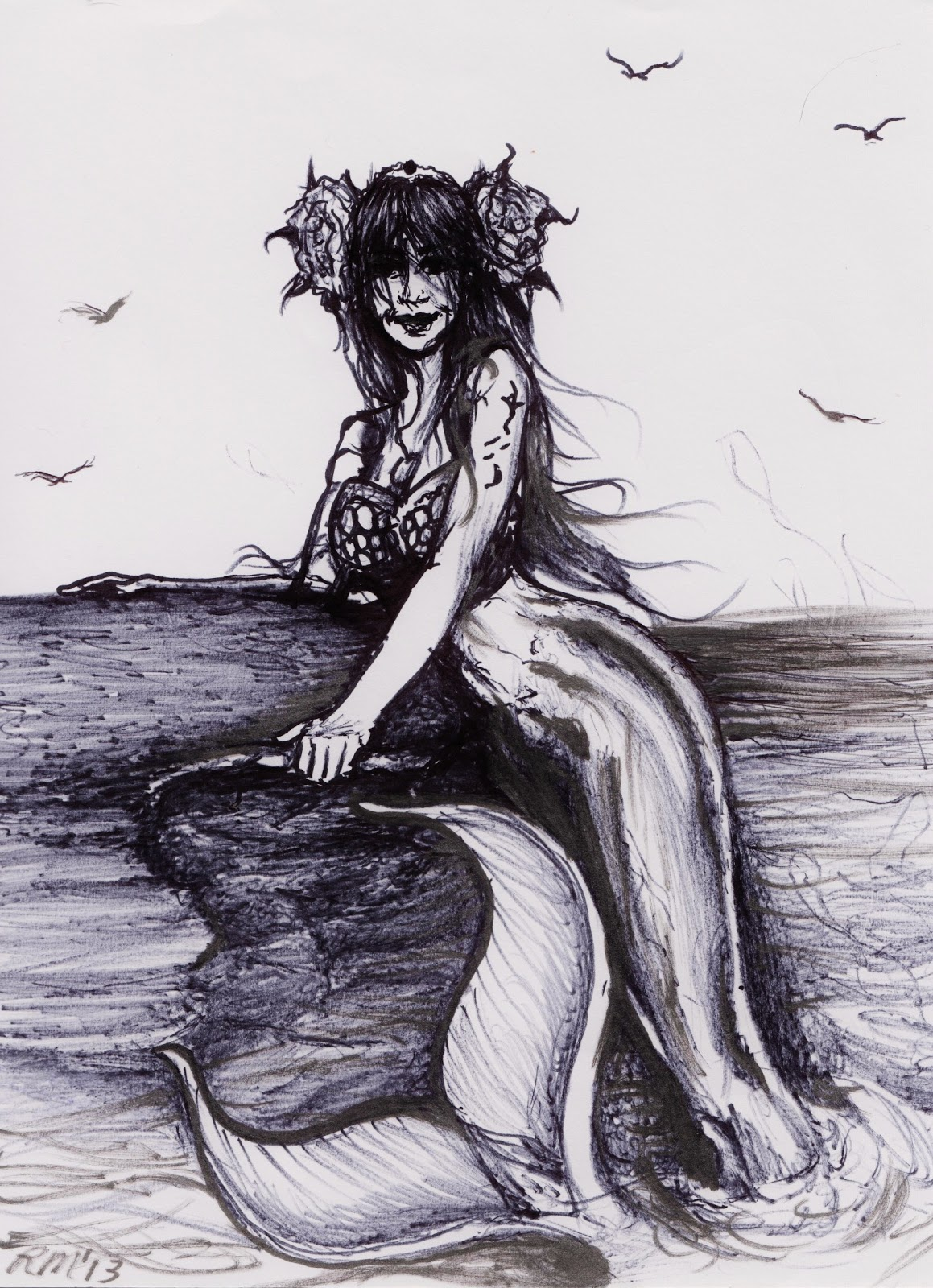 1159x1600 Alternate Visions I Has A New Mermaid Drawing! D