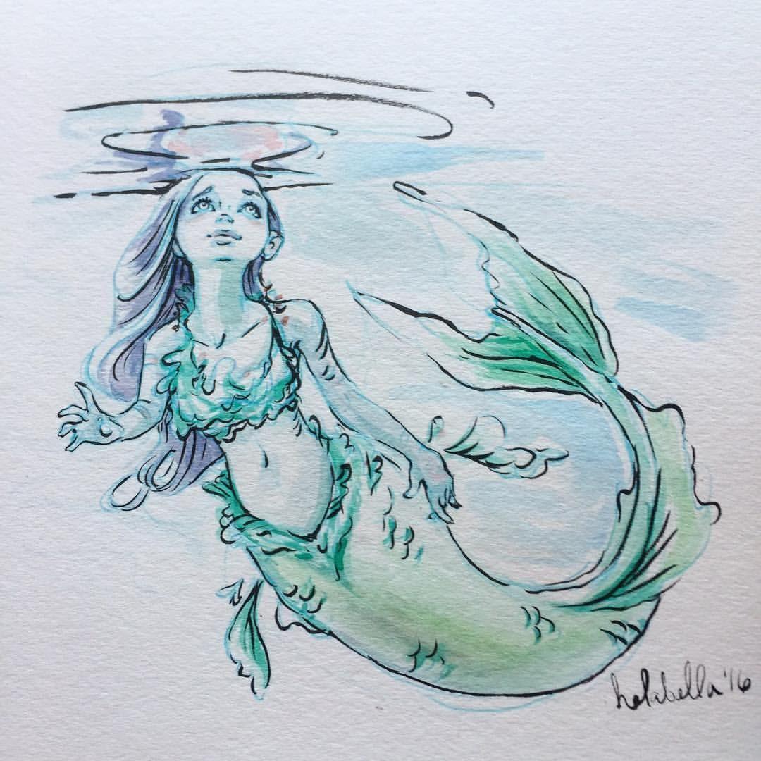 1080x1080 Blue Mermaid