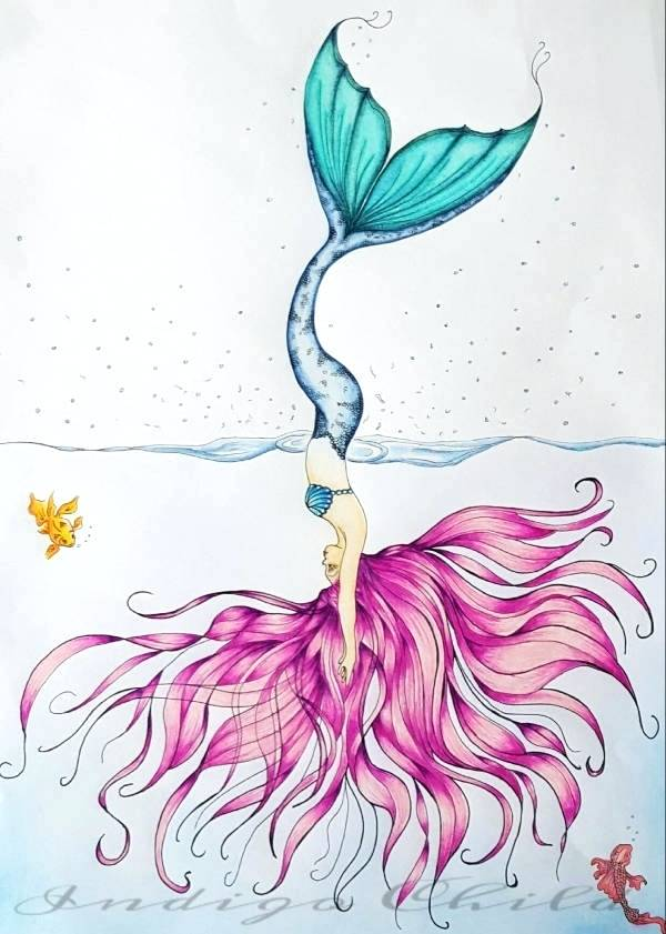 Mermaid Drawing at GetDrawings.com | Free for personal use ...