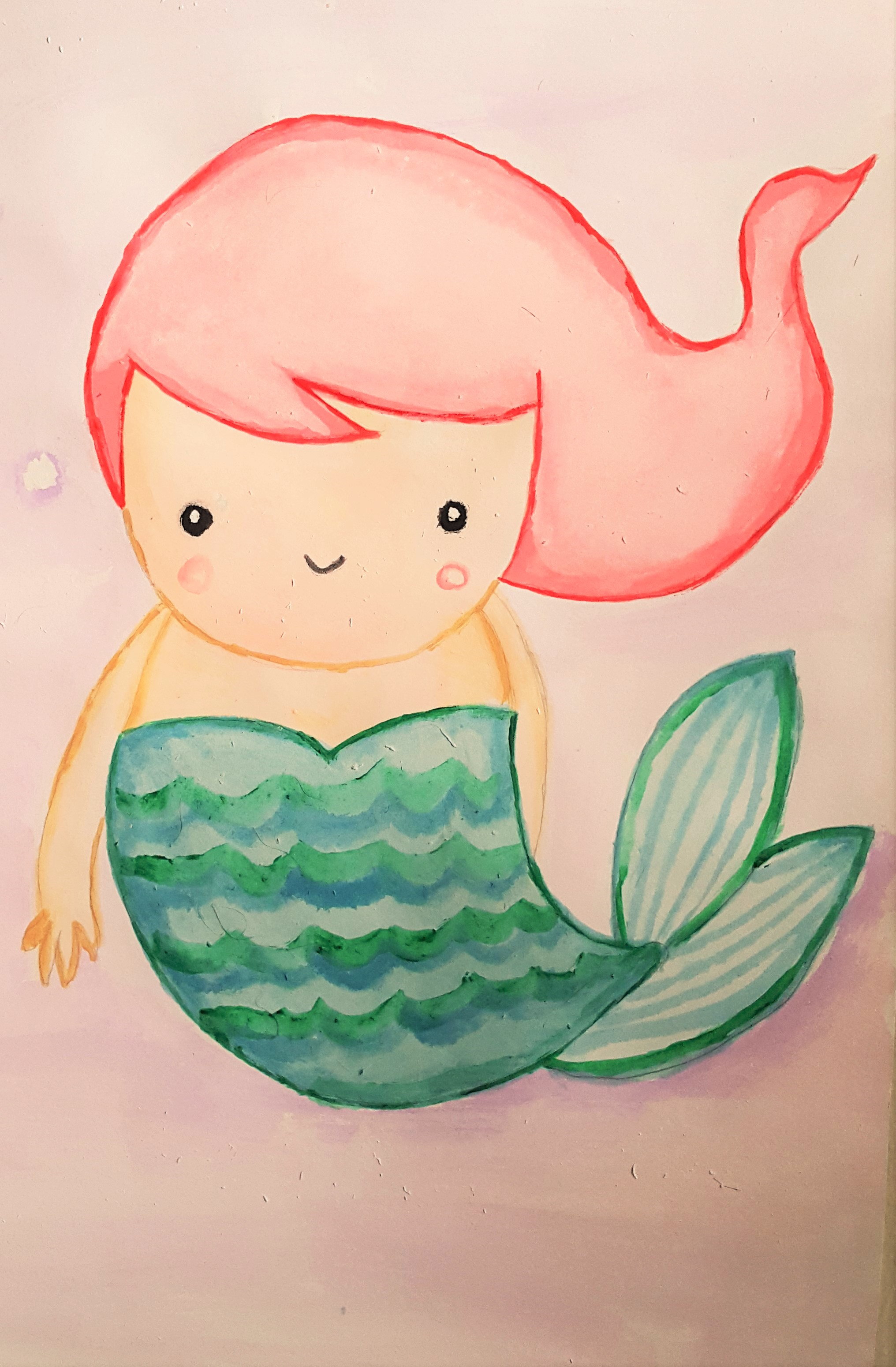 2032x3099 My Mermaid Drawing AEUR Brewing Happiness