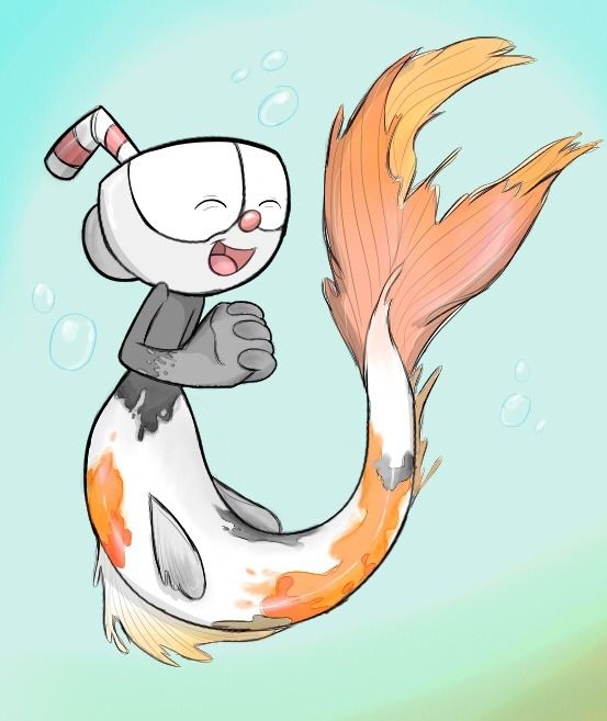553x657 Random Art Things What If They Were Mermaids Cuphead Don'T