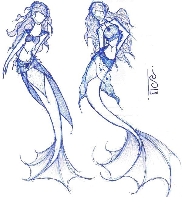 Anime Mermaid Drawing