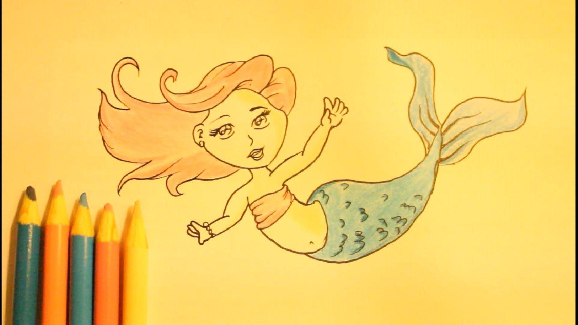 1920x1080 How To Draw A Mermaidstep By Step Slowlyfor Beginnerstaileasy
