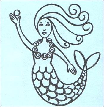 350x360 How To Draw Mermaid How To Draw A Mermaid Drawing Little Mermaid