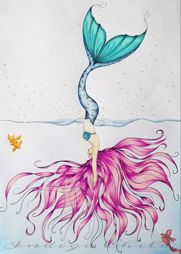 600x841 Mermaid Drawings