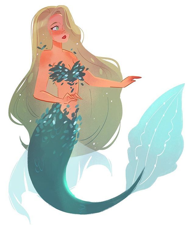 640x765 A Little Mermaid Doodle After A Long Day Of Work. I Haven'T Been