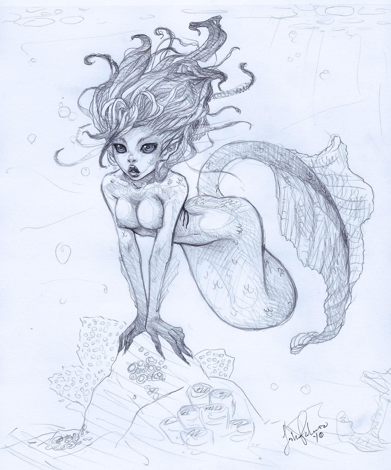 1330x1600 Gorgeous Illustration Of A Beautiful Mermaid Illustrative Art