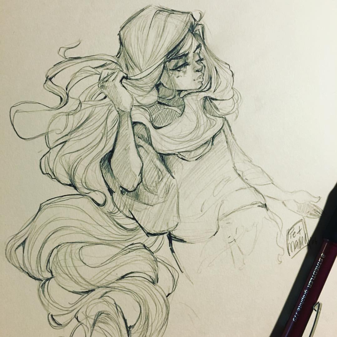 1080x1080 Image Result For Mermaid Hair Drawing Illustrating Hair
