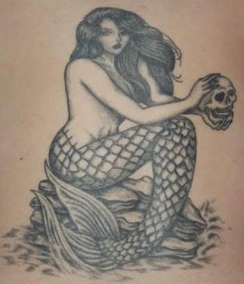 350x407 10 Fascinating Mermaid Tattoo Designs