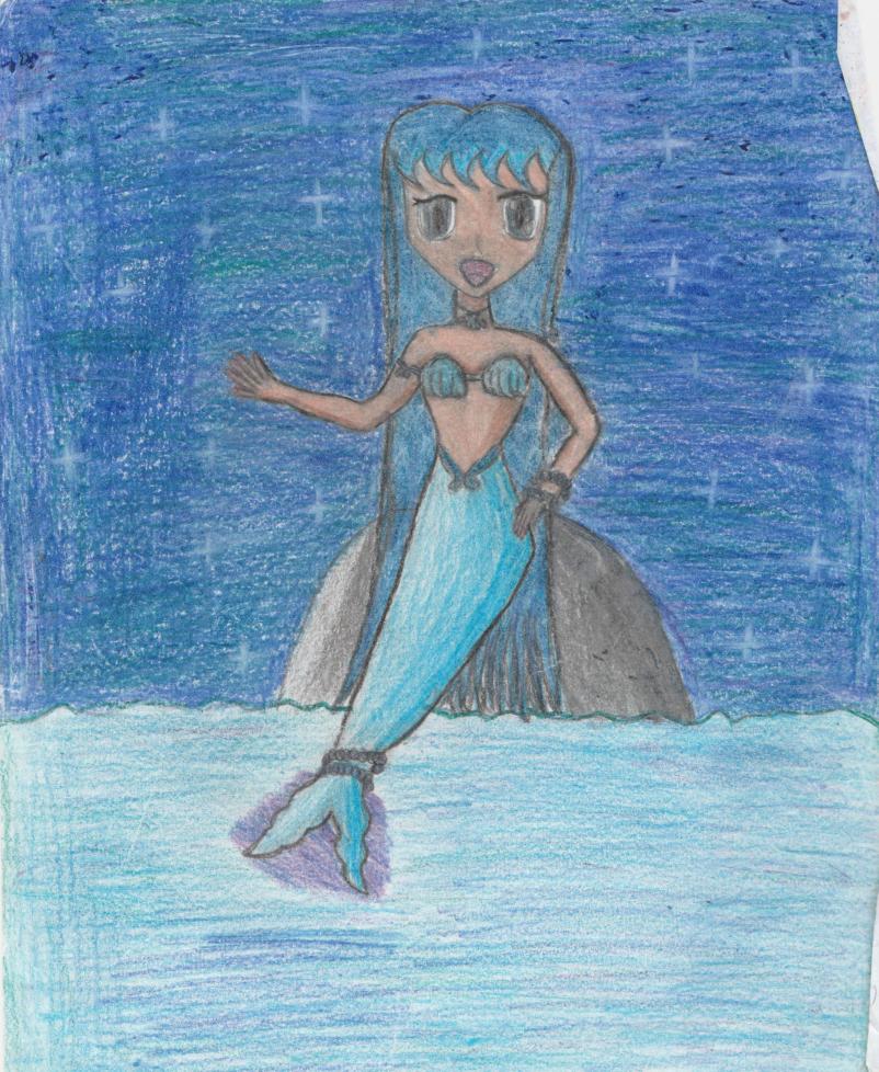 802x978 Mermaid Sitting A Rock By Tokyomewmewlovr