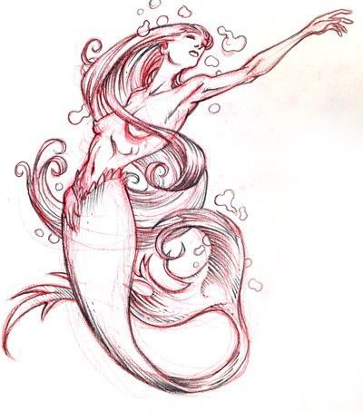 400x453 Mermaid Tattoo Ideas