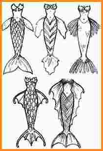 211x308 Mermaid Tail Drawing Mac Resume Template