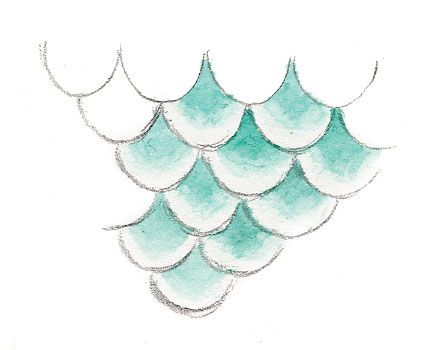 435x350 How To Draw And Paint Mermaid Scales