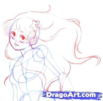 400x391 Pictures Of Mermaids To Draw With How To Draw A Mermaid Step 4