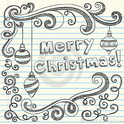 400x400 Hand Drawn Merry Christmas Drawing Merry Christmas Amp Happy New