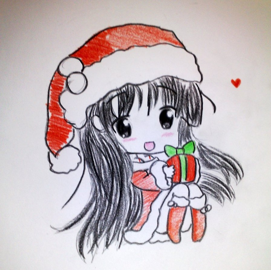 896x892 Merry Christmas Everyone By Kimitos Drawing