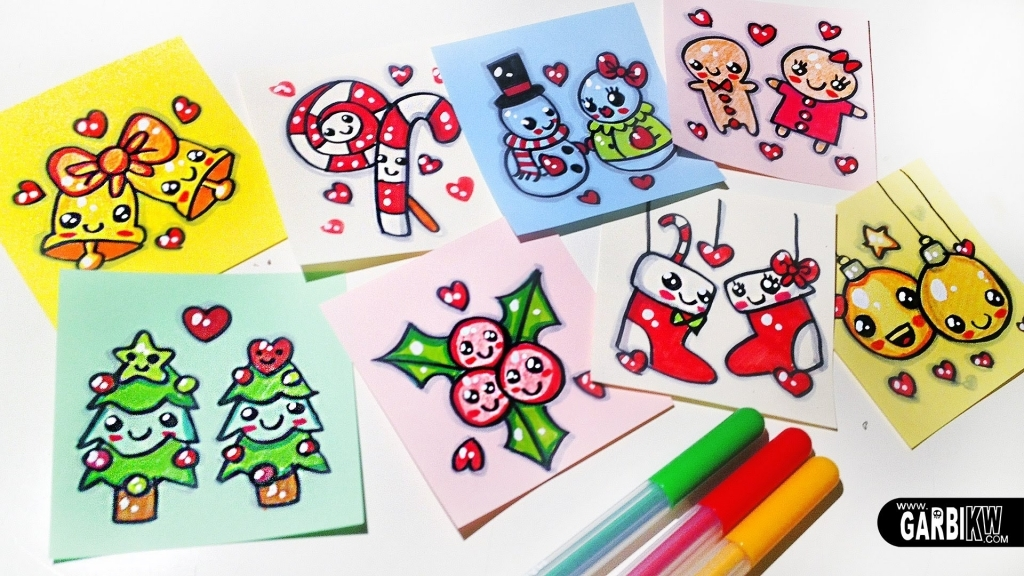 1024x576 Easy Christmas Drawings Merry Christmas Easy Drawings And Kawaii