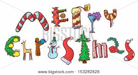 450x245 Merry Christmas Hand Drawing Vector Amp Photo Bigstock