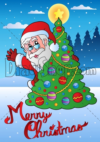 347x492 Santa Merry Christmas Drawing Merry Christmas Amp Happy New Year Arts