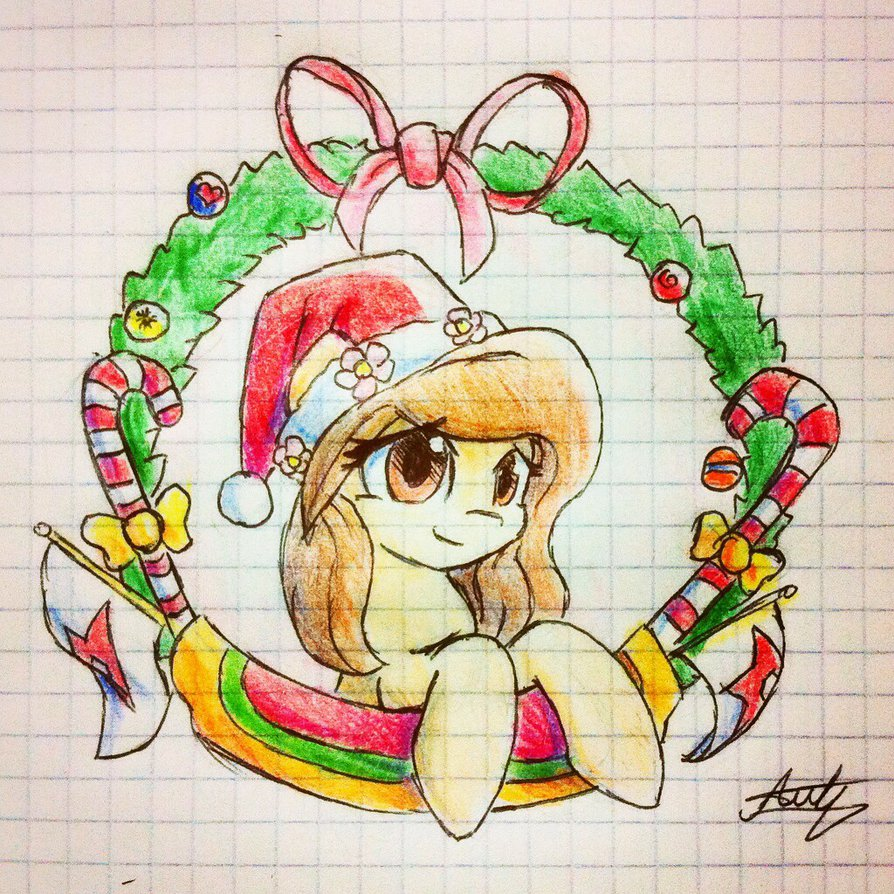 894x894 Mlp Merry Christmas Pixie Dixi Draw By Stardep
