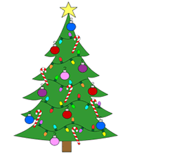 250x226 Cartoon Christmas Tree Drawing Things To Draw Someday