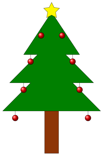 398x598 How Can We Draw A Christmas Tree With Decorations, Using Tikz