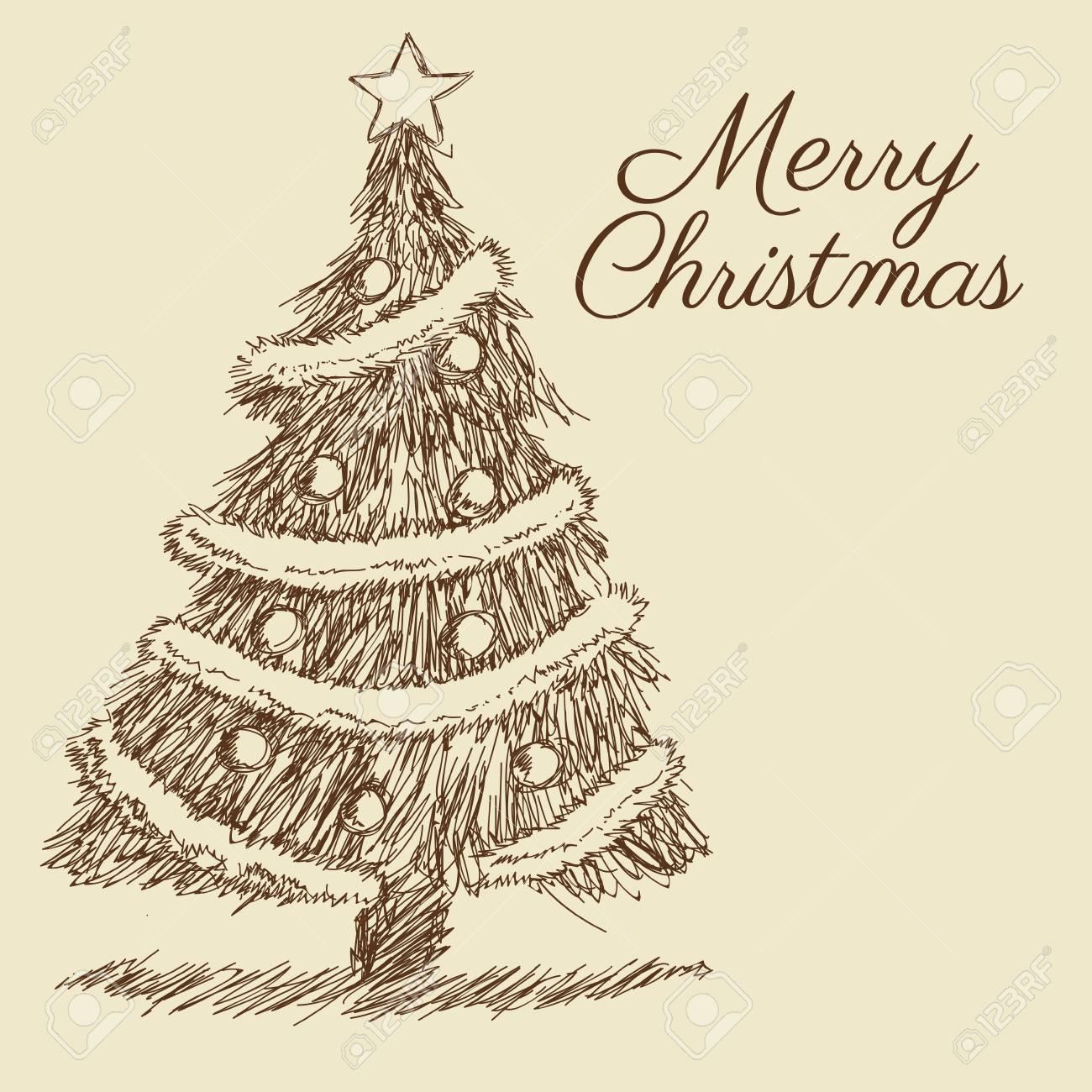 1300x1300 Pine Tree Merry Christmas Decoration Celebration Icon. Isolated