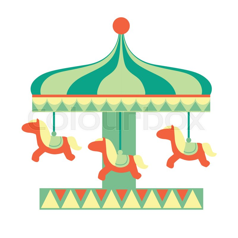 800x800 Merry Go Round With Horses Ride, Part Of Amusement Park And Fair
