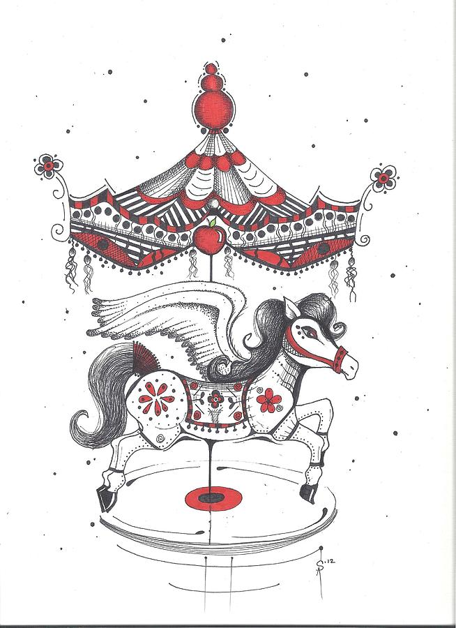 654x900 Merry Go Round Canvas Print Canvas Art By Sheri Athwal Merry