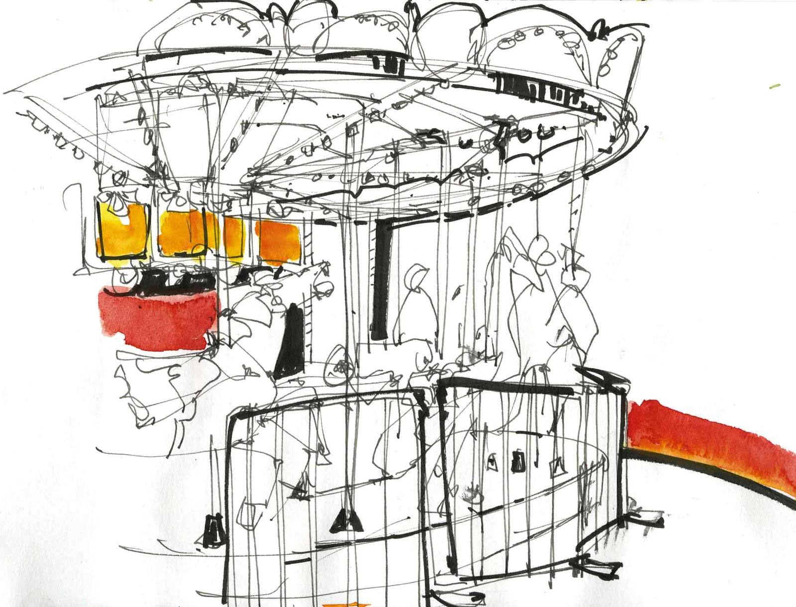1600x1220 Urban Sketchers S.f. Bay Area Tilden Park Merry Go Round