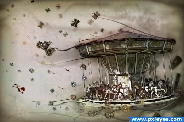 600x400 Merry Go Round Drawing