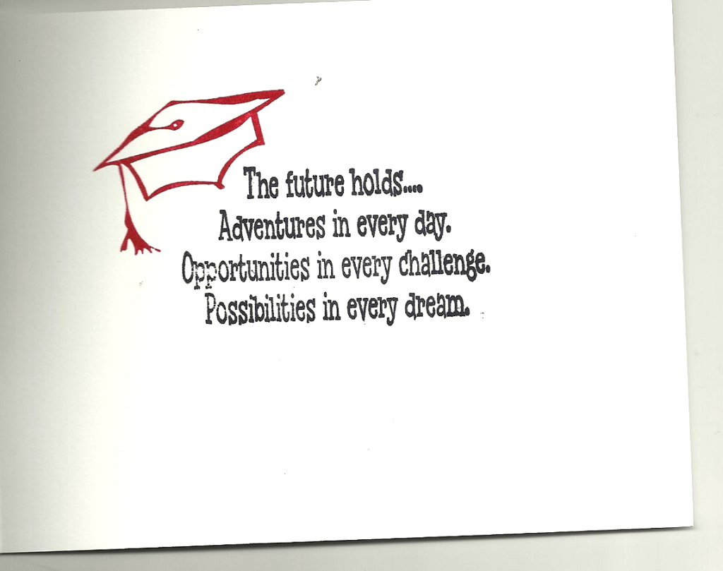 1024x809 Beautiful Greeting Card With Inspirational Graduation Message